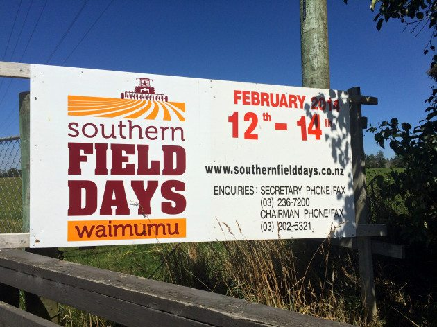 The Fellowship of Christian Farmers, International New Zealand organized its firtst ever exhibit at the Southern Field Days, February 12-14th, at Waimumu, Southland. Southern Field Days is New Zealand's second largest farm exhibition and is held biannually. The next Southern Field Days will be February 10-12, 2016. The South Island Agricultural Field Days will be March 25-27, 2015 near Lincoln, Canterbury.