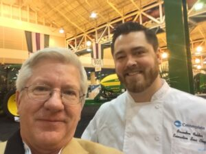 New Orleans Convention Center Chef Brandon Folder stopped by at the FCFI exhibit at the Commodity Classic. Brandon fed all 6000 farmers at the trade show Thursday and Friday.
