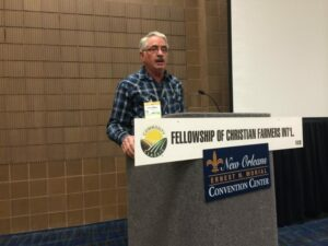 Jim Weber, Atmore, Alabama, preached the bible lesson in John 4 at the Commodity Classic worship service.
