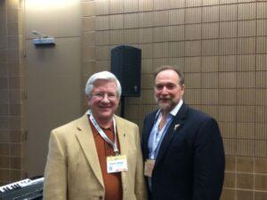 Brett Blankenship with FCFI Executive Director Dennis Schlagel